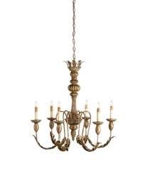 Antique French Victorian style (1940s) gilt wood chandelier - YouTube